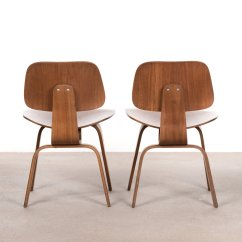 Eames Dining Chair Swing La Jolla Dcw Walnut Plywood By Charles And Ray For