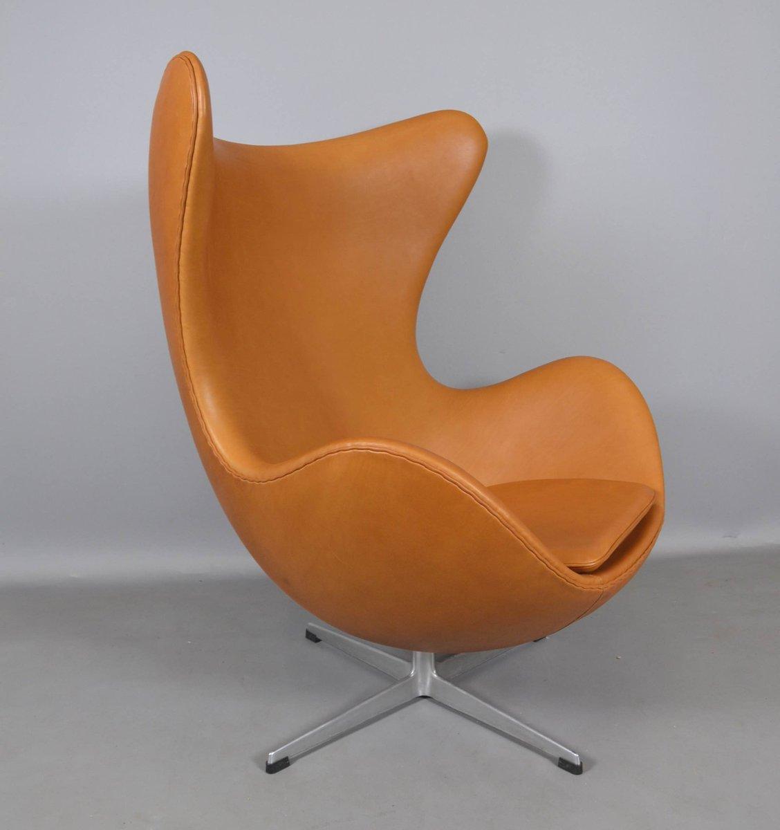 jacobsen egg chair leather sling repair by arne for fritz hansen 1970s