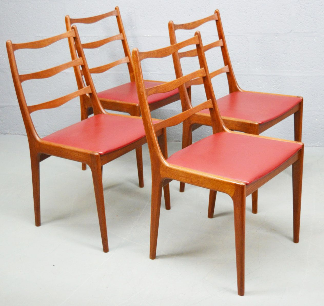 Danish Teak Dining Chairs Mid Century Teak Danish Dining Chairs By Kai Kristiansen