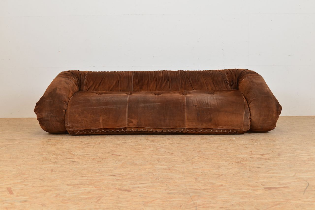 anfibio leather sofa bed 8 replacement legs vintage by alessandro becchi for