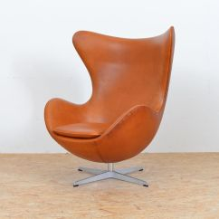 Mid Century Egg Chair Oxo Tot Sprout High Replacement Cushion Leather By Arne Jacobsen For Fritz
