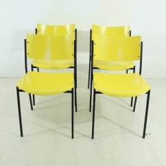 Yellow Chairs For Sale Dining Room With Wheels 1960s Set Of 4 At Pamono
