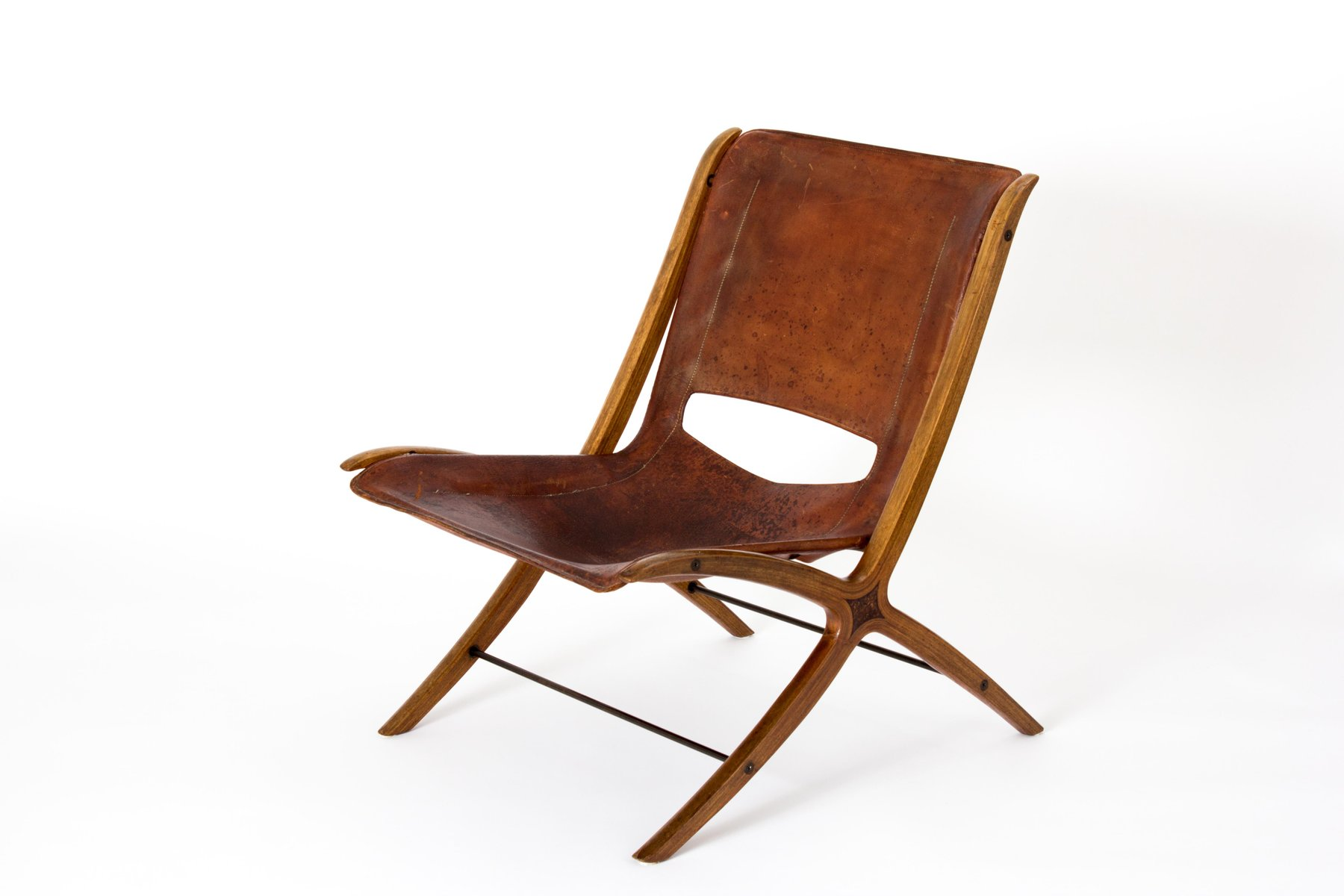 X Chair Mid Century Danish X Chair In Cognac Leather By Peter