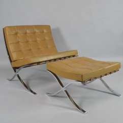 Mies Van Der Rohe Barcelona Chair Ikea Chairs Bedroom Vintage With Ottoman By Ludwig
