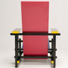 Gerrit Thomas Rietveld Chair Chromcraft Kitchen Parts Red And Blue By For Cassina