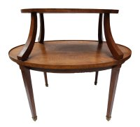 Antique German Brass & Oak Dining Table for sale at Pamono