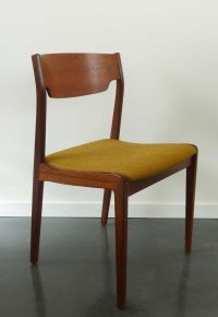 Mid-Century Danish Chair with Mustard Upholstery for sale ...