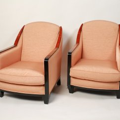 Art Deco Style Club Chairs Black Wood Dining Room 1930s Set Of 2 For Sale At Pamono