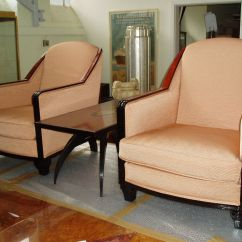 Art Deco Style Club Chairs Desk Chair Disassembly 1930s Set Of 2 For Sale At Pamono