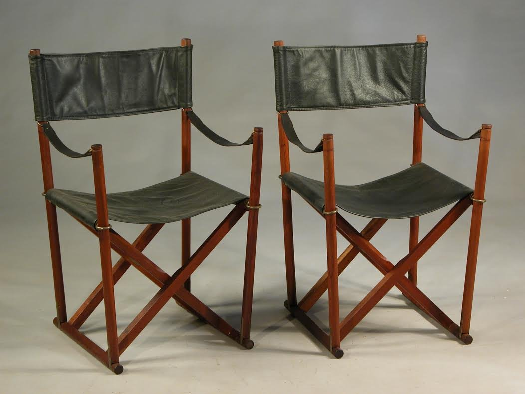 folding chair qatar steelcase cobi teak brass and black leather safari chairs by