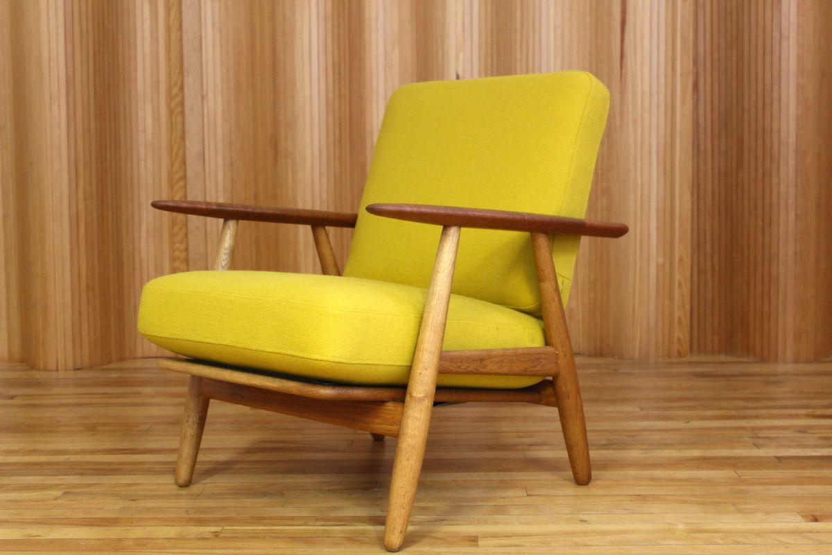 Cigar Lounge Chairs Danish Oak And Teak Cigar Lounge Chair By Hans J Wegner For