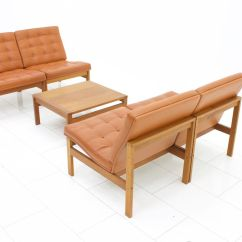Club Chairs And Table Best Beach Vintage Leather Lounge By Torben Lind