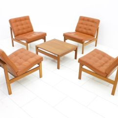 Club Chairs And Table Plastic Outdoor Walmart Vintage Leather Lounge By Torben Lind