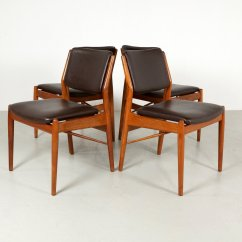 Danish Dining Chair Bedroom The Range Chairs By Arne Vodder For Sibast 1960s Set