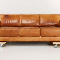 Dux Sofa Uk Orange Modern Leather Swedish 3 Seater In Oxhide Brown From