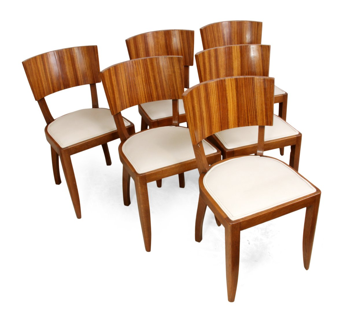 art deco kitchen chairs swivel counter dining 1930s set of 6 for sale at pamono