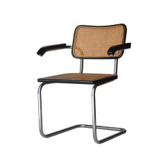 Marcel Breuer Cesca Chair With Armrests Extra Wide Recliner Italian B64 Chairs By For Gavina 1962