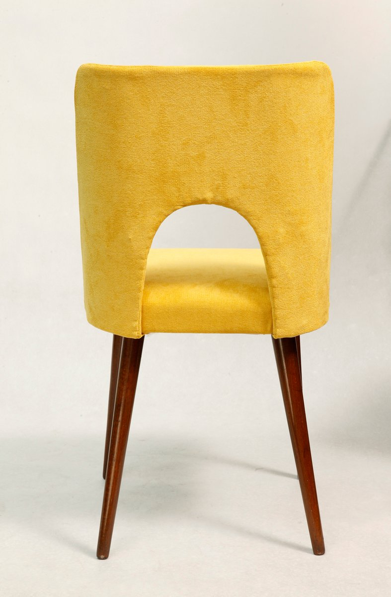 Yellow Side Chair by Leniewski 1970s for sale at Pamono