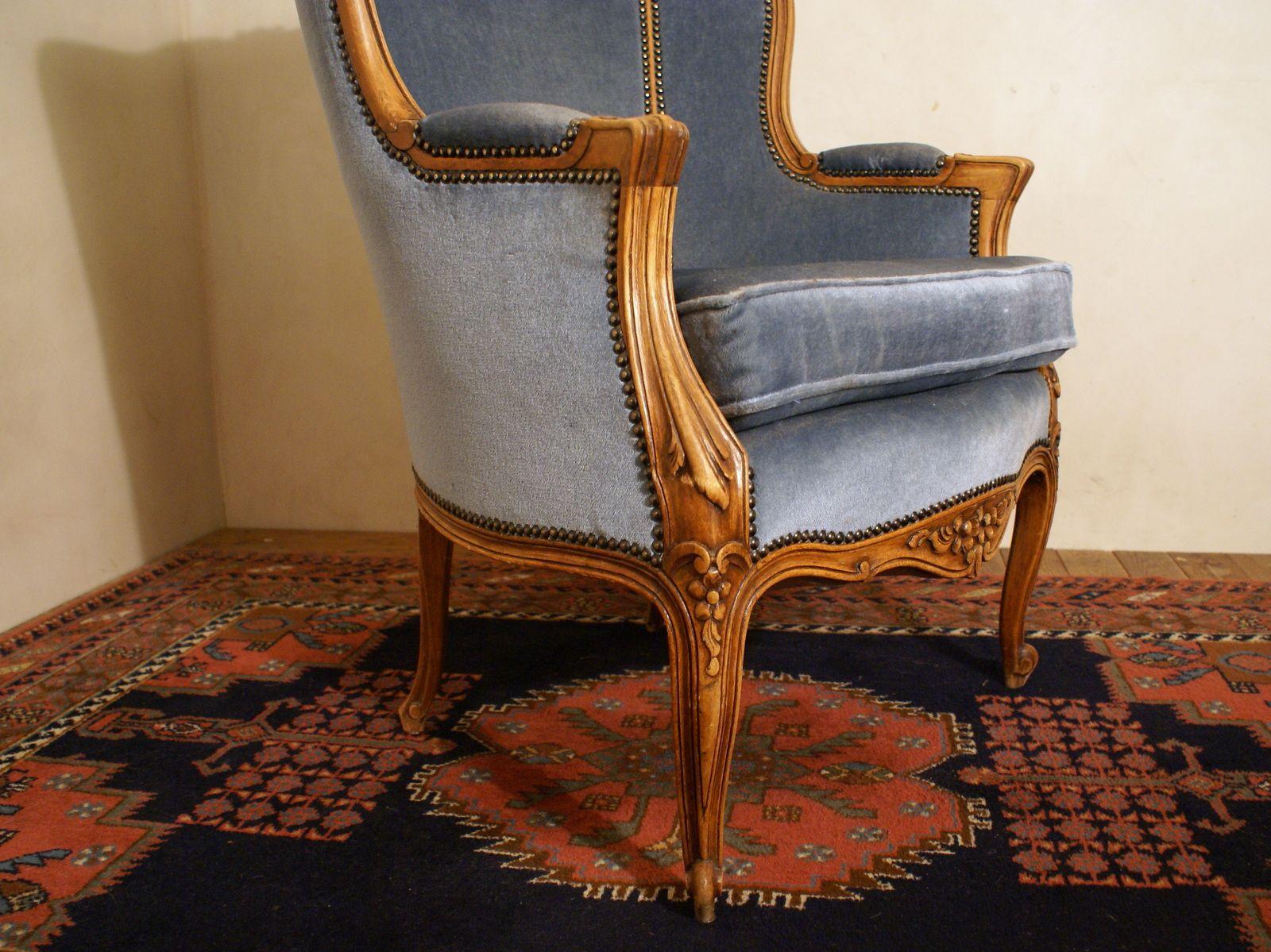 blue velvet armchair nz massage chair design 1940s for sale at pamono