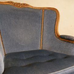 Blue Velvet Armchair Nz Chair Cover Rentals Burlington Ontario 1940s For Sale At Pamono