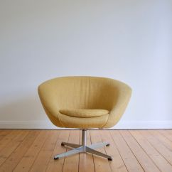 Ab Swivel Chair Teal Swedish Lounge From Overman 1960s For