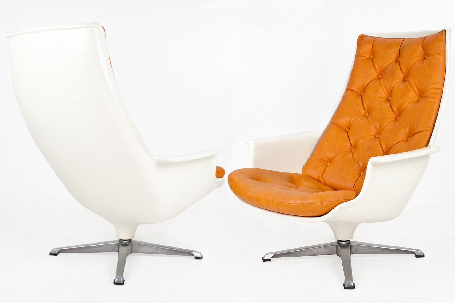 swivel chair price philippines trailer hitch swing swedish lounge chairs 1970s set of 2 for sale at