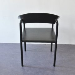 Antique Metal Chairs For Sale Counter Height Chair Vintage Black Leather And Lacquered Dining