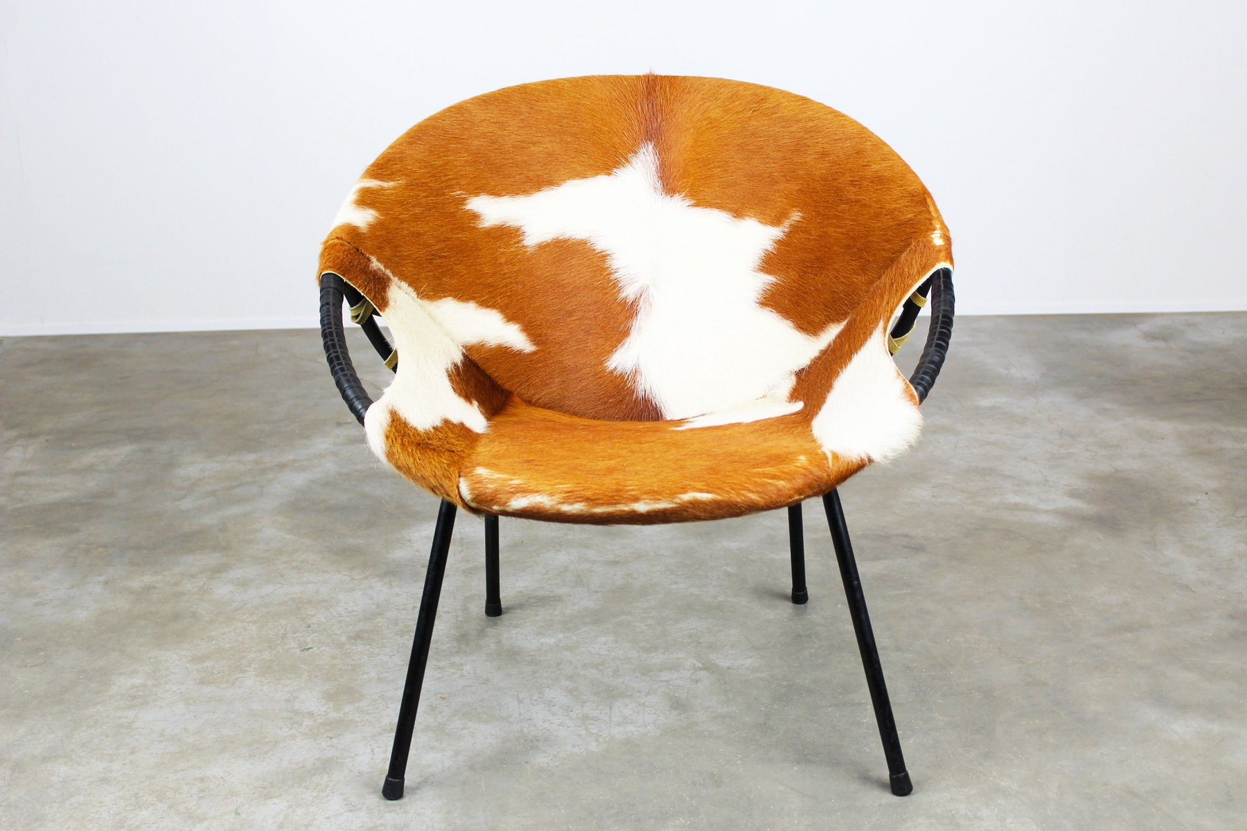 chair with balloons grey fabric office cowhide balloon by hans olsen 1950s for sale at pamono