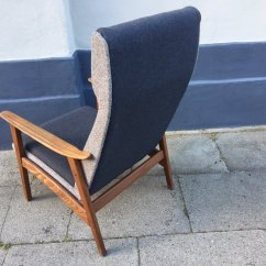 High Back Easy Chair Dining Chairs Set Of 4 Target Danish Mid Century Teak 1960s For