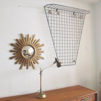 French Black Metal Wall-Mounted Coat Rack, 1960s for sale ...