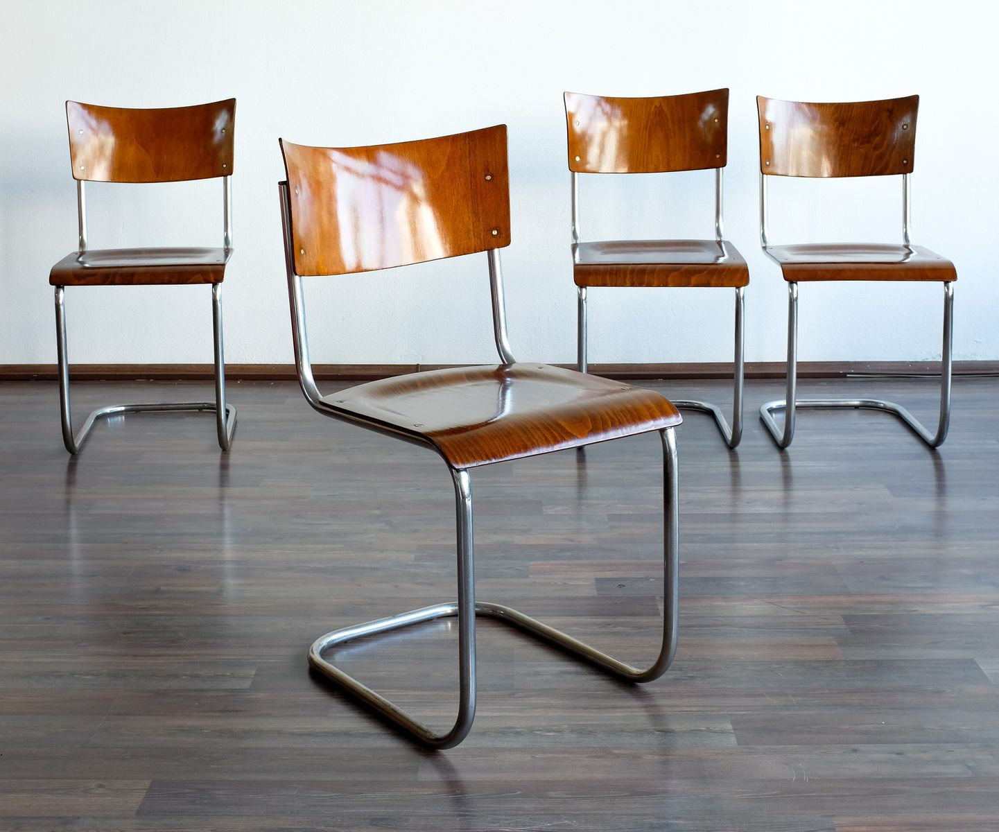 mart stam chair folding chairs for less chromed metal s43 by thonet set of 4