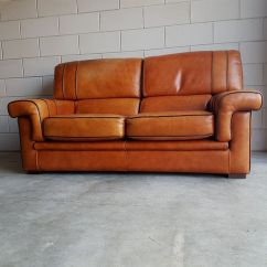 Where To Get Leather Sofa In Singapore Loose Back Cushion Slipcover Vintage Cognac Saddle Sofa, 1980s For Sale At Pamono