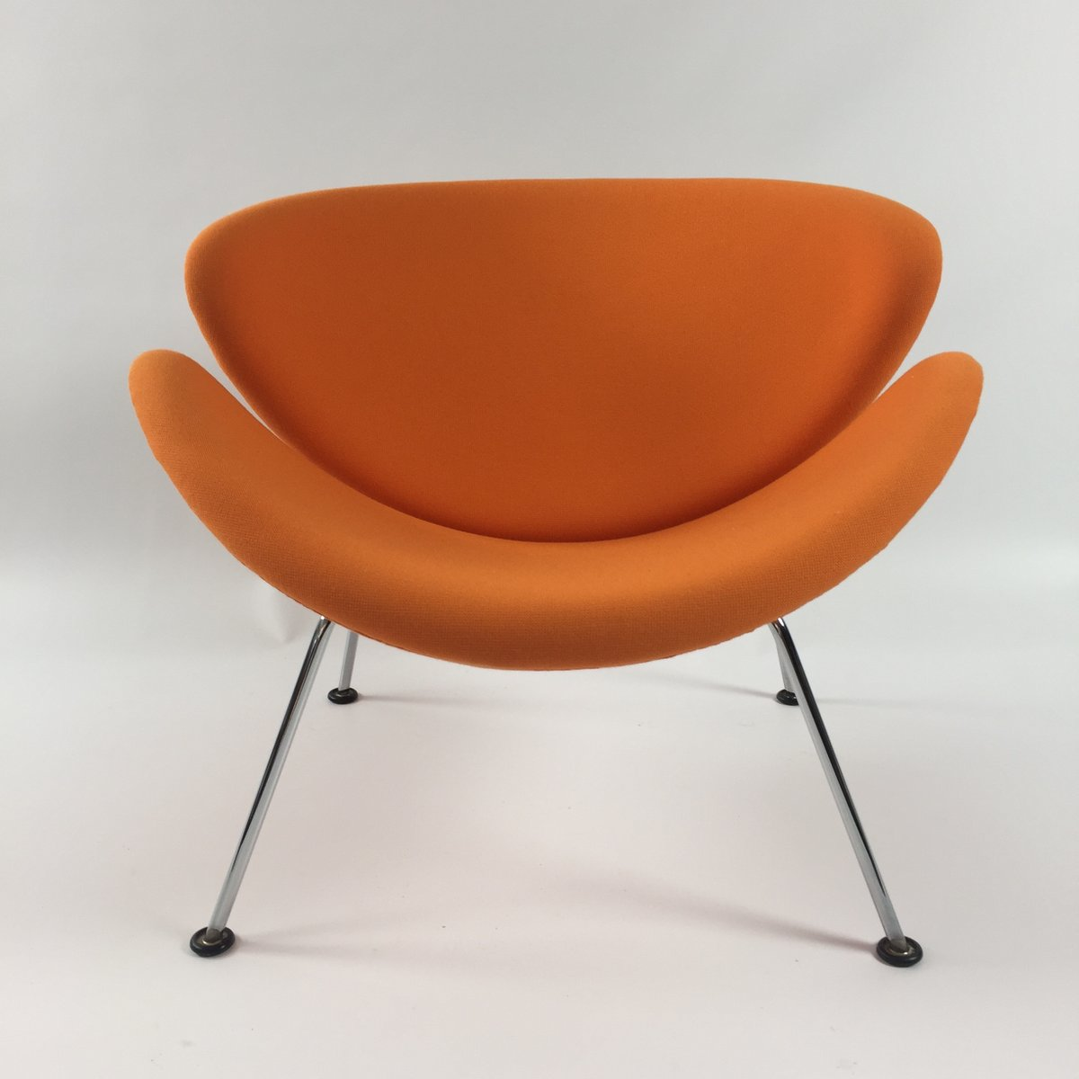 orange slice chair staples task parts vintage lounge by pierre paulin for