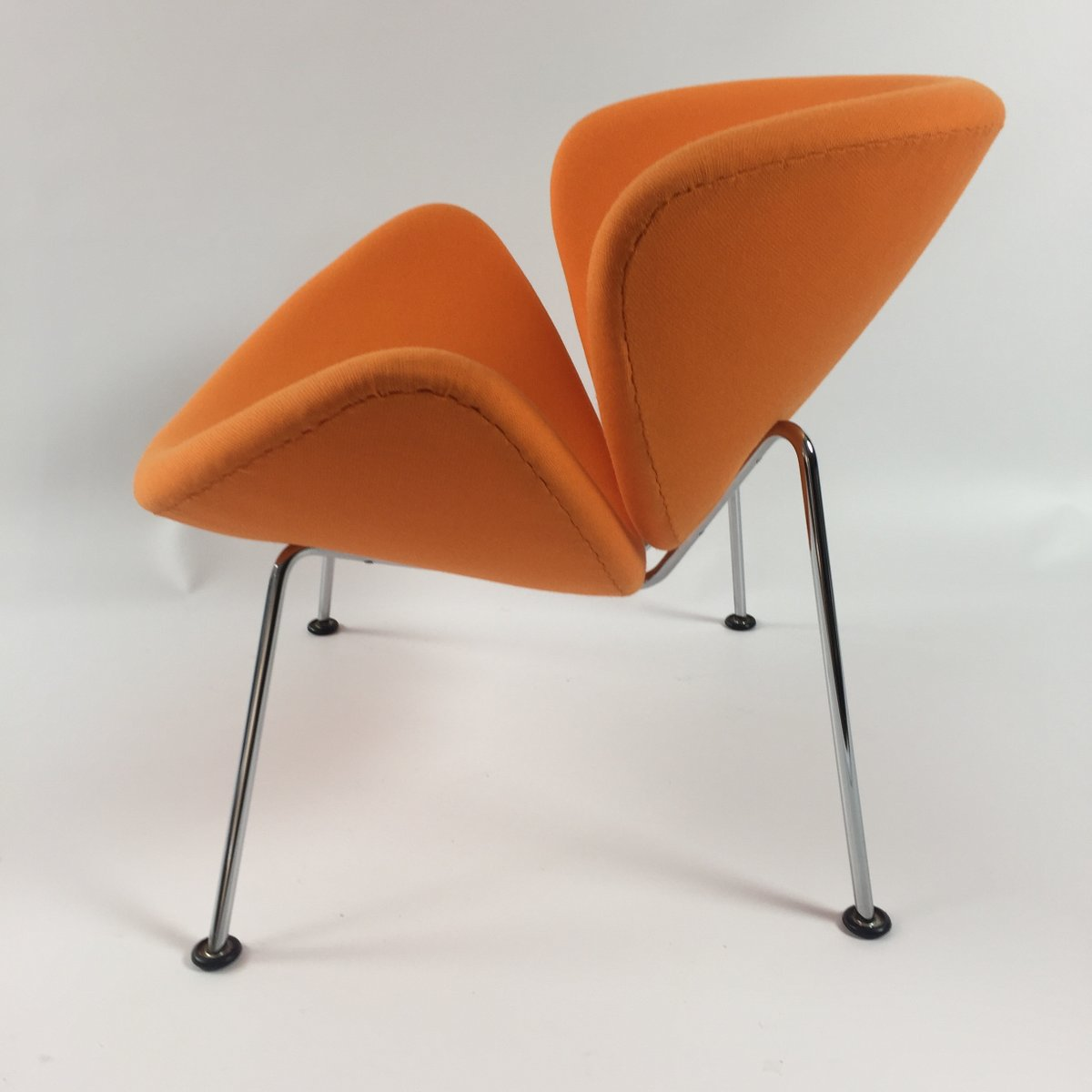 orange slice chair covers and organza bows vintage lounge by pierre paulin for