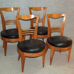 Set Of 4 Chairs Black Rocking Lowes Art Deco 1930s For Sale At Pamono