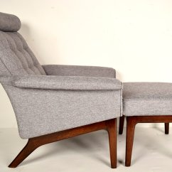 Mid Century Danish Chair Design Contemporary Lounge And Ottoman By Poul Jensen