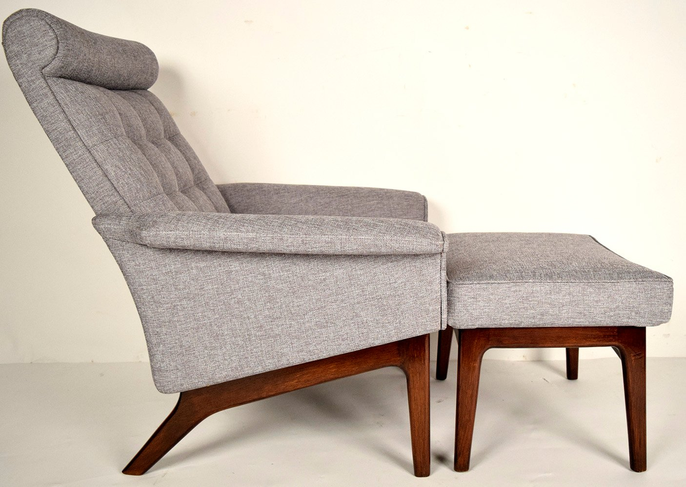 Mid Century Lounge Chair Mid Century Danish Lounge Chair And Ottoman By Poul Jensen