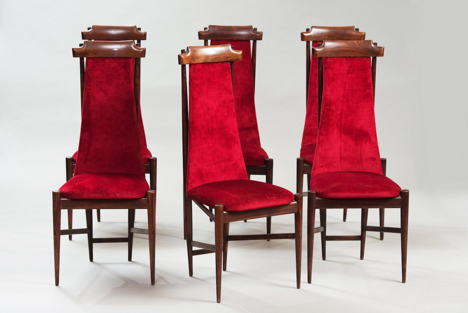 high back dining chairs chair meditation posture set of 6 for sale at pamono