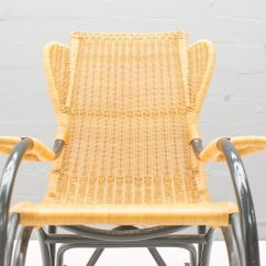 Vintage Wicker Rocking Chair Black Spandex Covers Used Rattan 1970s For Sale At Pamono