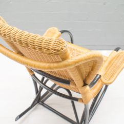 Vintage Wicker Rocking Chair Recovering Outdoor Chairs Rattan 1970s For Sale At Pamono