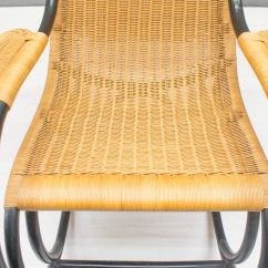 Vintage Wicker Rocking Chair Jaxx Bean Bag Chairs Rattan 1970s For Sale At Pamono