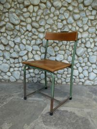 Mid-Century Industrial School Chair from Emile Semal for ...