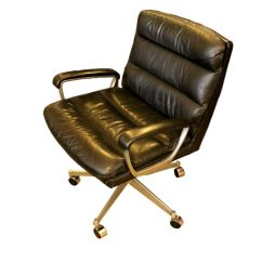 Leather Chrome Chair Mickey Mouse Armchair Uk And Office From Ring Mekanikk 1958 For