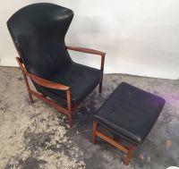Swedish Lounge Chair with Ottoman, 1960s bei Pamono kaufen