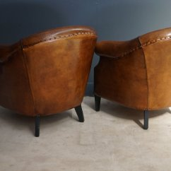 Club Chairs And Table Kids Gaming Chair Vintage Cognac Leather Set Of 2 For Sale At