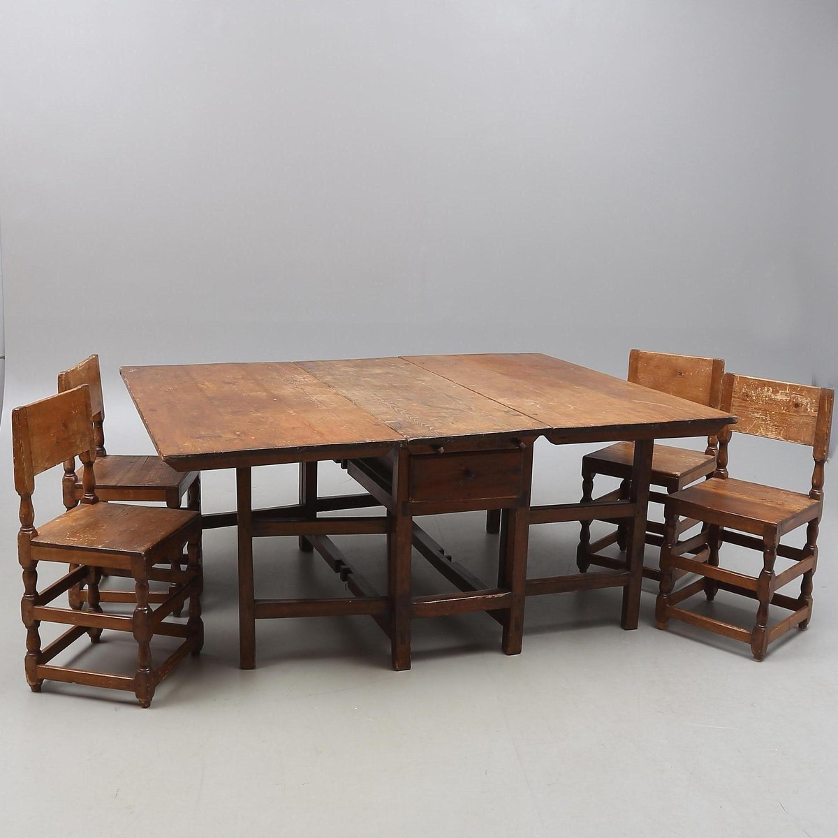 four chair dining set baby nursery chairs 18th century with table and for
