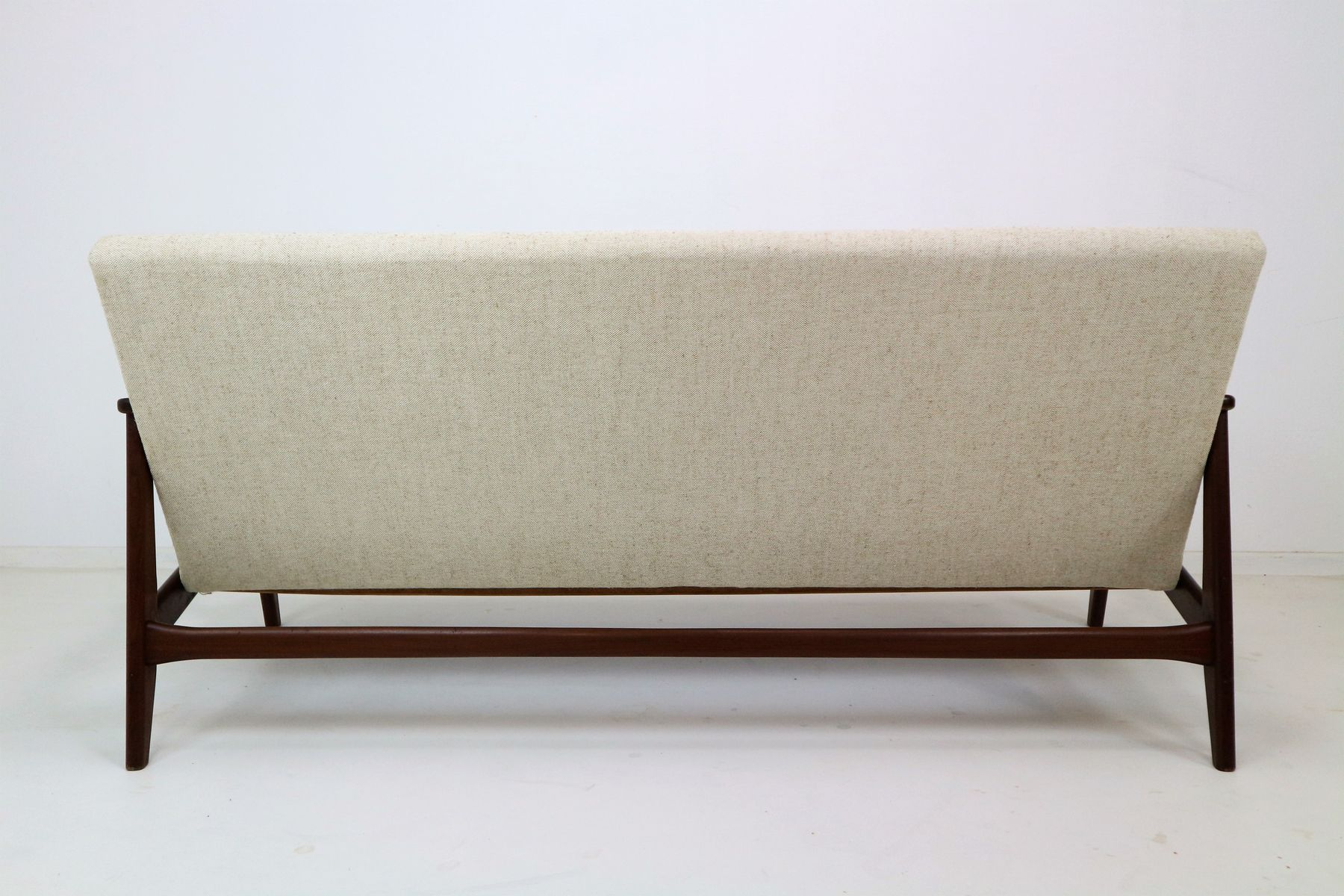 sofa for van singapore leather bed loveseat mid century teak by louis teeffelen wébé