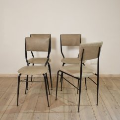 Set Of 4 Dining Chairs Swivel Chair Lock Mid Century Italian For Sale At Pamono