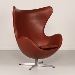 Swivel Chair Ireland Lounge Pads 3316 Cognac Leather Egg By Arne Jacobsen For Fritz Hansen, 1969 Sale At Pamono
