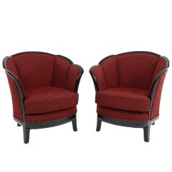 Art Deco Style Club Chairs Cheap Papasan For Sale 1930s Set Of 2 At Pamono